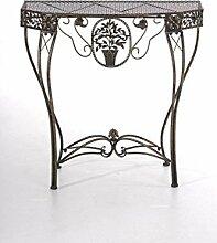 Blumentisch Navan, Gartentisch Tisch, Metall ~ bronze