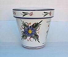 Blumentopf aus Ton, bemalt, Dekoration, Keramik