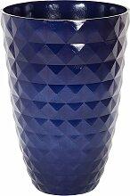 Blumentopf Blau 35 cm Blumenkübel Rund Modernes