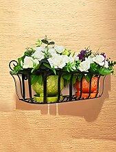 Blumentopf Blumenständer Wohnzimmer Indoor Bonsai Regal Europäische Art-Eisen-Wand-Hängen-Blumen-Schwarz-Rack