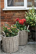 Blumentopf Eanes aus Korbgeflecht Brambly Cottage