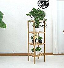 Blumentopf-Finish-Rack. Bambus-Leben-Blumen-Standplatz-Kombination der mehrgeschossigen Blumen-Balkon-Balkon-Wohnzimmer-Blumen-Gestelle Pflanzen vergoldet Rack ( größe : M )