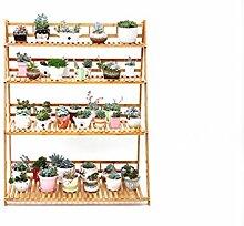 Blumentopf-Finish-Rack. Blumenregal Massivholz Landung Wohnzimmer Mehrschichtige Blumenregale Blumentopf-Rack (4 Lagen) Pflanzen vergoldet Rack ( größe : 70cm )