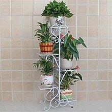 Blumentopf-Finish-Rack. Europäische Stil Metall Blume Racks Innen-und Außenbereich Wohnzimmer Balkon Mehrere Schichten Blumen Regal Montage Blumen Racks Pflanzen vergoldet Rack ( Farbe : #1 , größe : L )