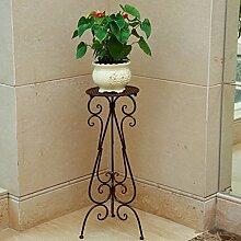 Blumentopf-Finish-Rack. Kreative Metall Blume Racks Indoor und Outdoor Wohnzimmer Balkon Dekoration Blume Regal Montage Pflanzen vergoldet Rack ( Farbe : C )