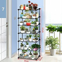 Blumentopf-Finish-Rack. Kreative Metallblumen-Gestelle Innen- und im Freienwohnzimmer-Balkon-Dekorations-Blumen-Regal-Versammlung Pflanzen vergoldet Rack ( größe : C )