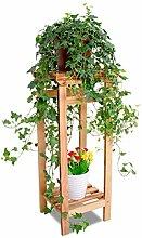 Blumentopf-Finish-Rack. Massivholz Blumenregale Landung Wohnzimmer Balkon Mehrere Schichten Blumentopf-Rack Europäische Stil Blumenregal Pflanzen vergoldet Rack ( größe : 70cm )