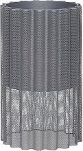 Blumentopf Rakel Metall rund grau