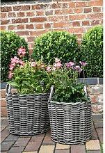 Blumentopf-Set Ealy aus Rattan Brambly Cottage