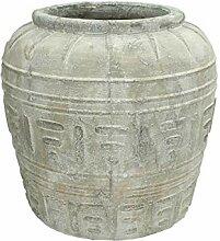 Blumentopf terracotta - grau
