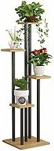 Blumentreppe aus Metall Holz Pflanzentreppe,