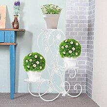 Blumentreppe Blumenständer Metall Blumenbank mit