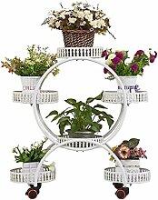 Blumentreppen Retro Blumenregale Eisen Metall