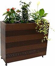 Blumentrog Pflanztrog Polyrattan Raumteiler mit
