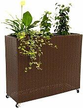 Blumentrog Pflanztrog Trennelement Polyrattan