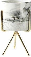 Blumenvase Minimalismusart Marmor Muster Goldene