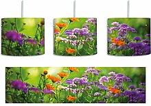 Blumenwiese inkl. Lampenfassung E27, Lampe mit