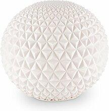 Blumfeldt • Shiny Diamond • Gartenlampe • Kugelleuchte aussen • Außenleuchte Kugel • für Garten und Außenanlagen • 43 cm Durchmesser • Stein-Optik • hochwertige Materialien mit Natursteinanteil • spritzwassergeschützt • Einsatz im Freien • weiß
