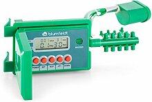 Blumfeldt Aquanova • Bewässerungsset • Bewässerungssystem • Bewässerungsanlage • Automatische Bewässerung • Bis zu 10 Topfpflanzen • Selbstansaugende Wasserpumpe • LCD-Display • Vinylschlauch • grün