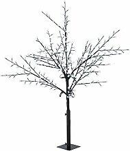 Blumfeldt Hanami CW 180 • Weihnachtsdekoration • Lichterbaum • Außenbeleuchtung • Kirschblüten-Design • 336 LED • kaltweiß • geringer Stromverbrauch • 1,8 m Höhe • biegsame Äste • 10 m Zuleitung • Standfuß • Garten • Wohnung • schwarz
