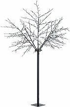 Blumfeldt Hanami CW 250 • Weihnachtsdekoration • Lichterbaum • Außenbeleuchtung • Kirschblüten-Design • 600 LED • kaltweiß • geringer Stromverbrauch • 2,5 m Höhe • biegsame Äste • 10 m Zuleitung • Standfuß • Garten • Wohnung • schwarz
