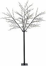 Blumfeldt Shineberry WW 250 • Weihnachtsdekoration • Lichterbaum • Außenbeleuchtung • Beeren-Design • 600 LED • warmweiß • geringer Stromverbrauch • 2,5 m Höhe • biegsame Äste • 10 m Zuleitung • Standfuß • Garten • Wohnung • schwarz