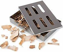 Blumtal Smoker Räucherbox aus rostfreiem