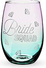 """Blush 8268 Weinglas ohne Stiel """"Bride Squad"""","""