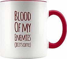 Blut meiner Feinde Roter Akzent Keramik