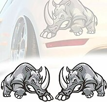 Bluting Rhinoceros Auto Aufkleber,Seitenaufkleber