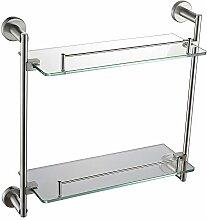 BLYC- Doppelte Edelstahl Glas Regale (420x400x130MM)
