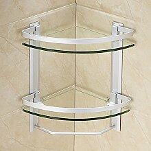 BLYC- Doppelte Glas Bad Eckregal
