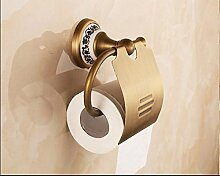 BLYC- Wand montiert Toilettenpapierhalter Antik Messing