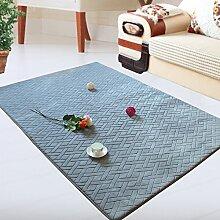 BLZZR*Das Wohnzimmer Teppich Kaffee Tisch Sofakissen Eingang Schlafzimmer mit großen Teppichen modernen minimalistischen Dicke Teppiche, 160x230cm, grau
