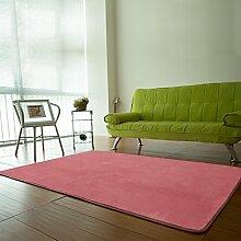 BLZZR*Japanische Wohnzimmer Couchtisch Teppiche , schlafzimmer bett und Tatami, große Sitzecke, Teppich, 140cm X 200cm, pink