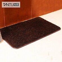 BLZZR*Tür Halter in der Farbe Feld Tür Fußmatte betten Fußauflage rutschfeste Unterseite dauerhaft umwelt- ,60cm x 100cm, braun