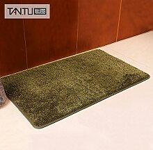 BLZZR*Tür Halter in der Farbe Feld Tür Fußmatte betten Fußauflage rutschfeste Unterseite dauerhaft umwelt-, 50cm x 80cm, grün
