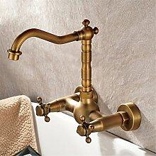 BMEI Bronze in die Wand Wasserhahn mit kaltem und