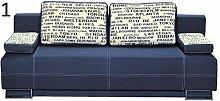 BMF Fino Drei 3er Sofa Bett Stoff Gute Preis, Textil, blau, Three_Seats