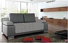 BMF Sydney New Drei 3er Sofa Bett Kunstleder Stoff