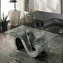 bmg-moebel.de Designer Couchtisch S-Form aus Stein