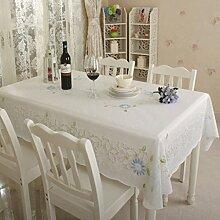 BMKY Tischdecken Plastik Tischdecke Pvc wasserdicht Anti-Öl Tischdecke Couchtisch Matte ( Farbe : Blue pattern )