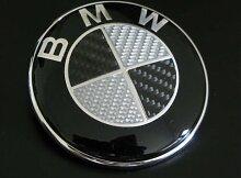 BMW Carbon Emblem 74mm (koplettes Emblem, kein