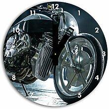 bmw motorrad Bild auf Wanduhr mit schwarzen