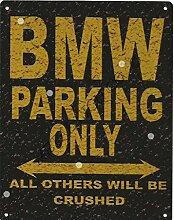 BMW PARKING Metall Rustikaler Stil den großen 30,5x 40,6cm 30x 40cm Auto Schuppen Dose Garage Werkstatt Art Wand Spiele Raum