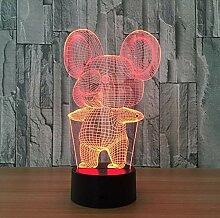 BMY Schöne Kaninchen Touch Tischlampe 7 Farben