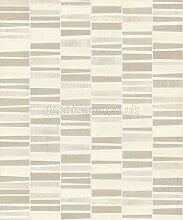 BN Wallcoverings Plaza Vinyl Tapete Mosaik Metallic Lack Fliesen Effekt Neu - Beige 300104