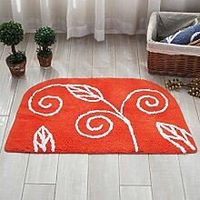 BNMZX Badezimmer Küche Anti-Rutsch-Matten-Tür Wohnzimmer Schlafzimmer Teppich,50*80cm-D