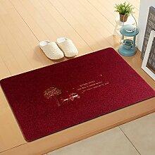 BNMZX Badezimmer Küche Anti-Rutsch-Matten-Tür Wohnzimmer Schlafzimmer Teppich 50 * 80cm,50*80cm-K