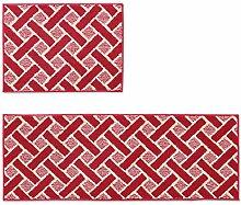BNMZX Badezimmer Küche Anti-Rutsch-Matten-Tür Wohnzimmer Schlafzimmer Teppich,45*60+45*120cm-A